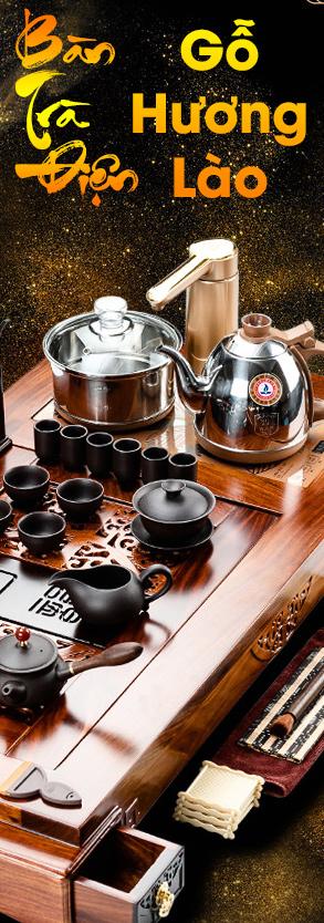 Bàn trà điện gỗ hương vân