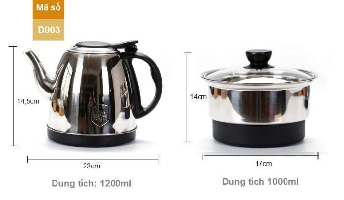 Bộ bàn trà có kích thước vừa phải, hợp với mọi thiết kế khay trà