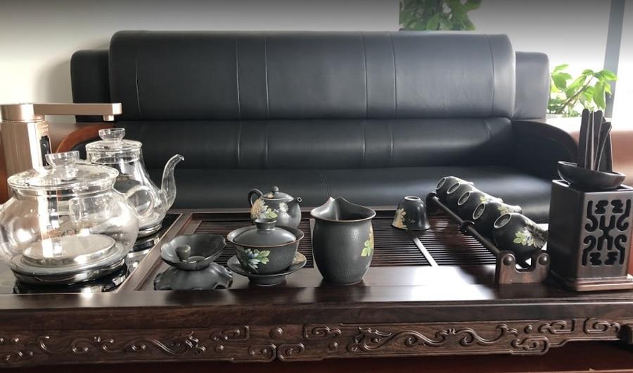 Hình ảnh thực tế bàn trà điện thông minh cao cấp